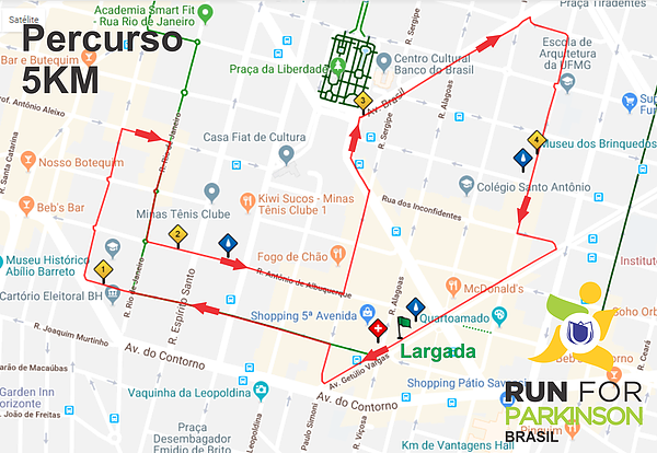 PERCURSO 05KM RUN FOR PARKINSONS ASPARMIG